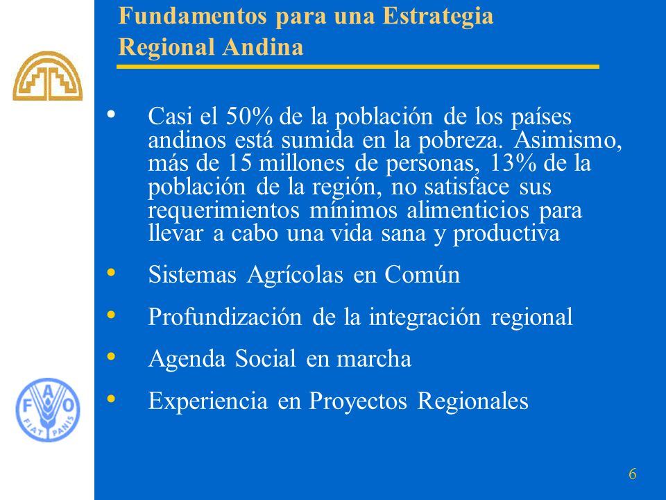 Fundamentos para una Estrategia Regional Andina