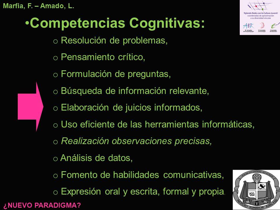 Competencias Cognitivas: