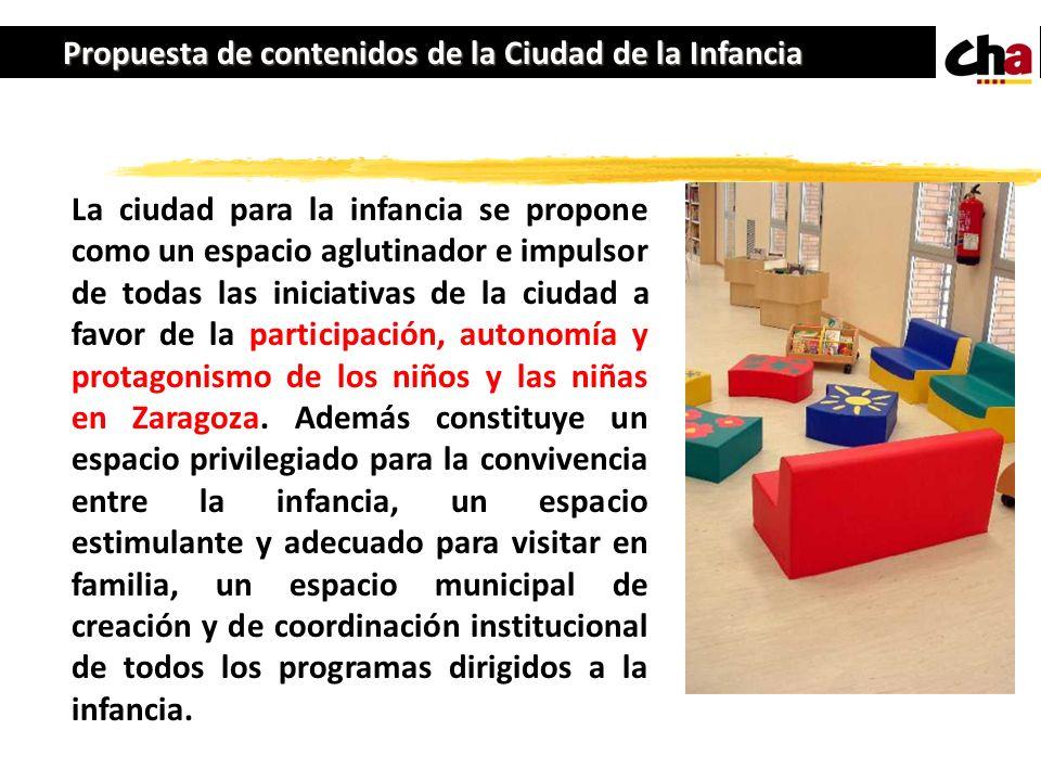 Propuesta de contenidos de la Ciudad de la Infancia
