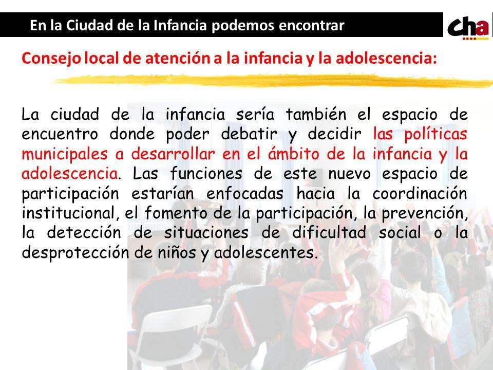 Consejo local de atención a la infancia y la adolescencia: