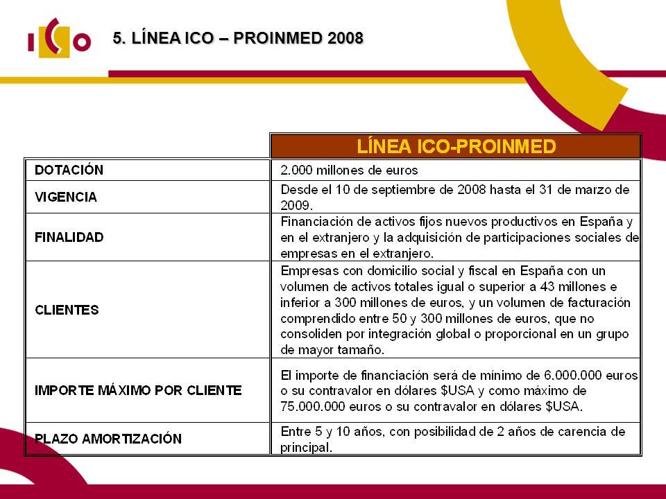 5. LÍNEA ICO – PROINMED 2008