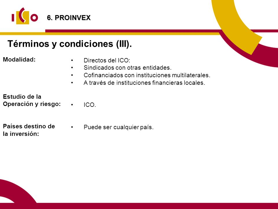 Términos y condiciones (III).