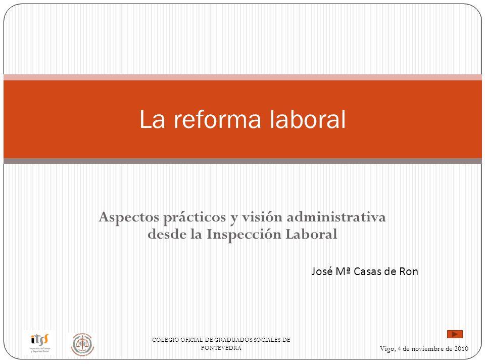 Aspectos prácticos y visión administrativa desde la Inspección Laboral