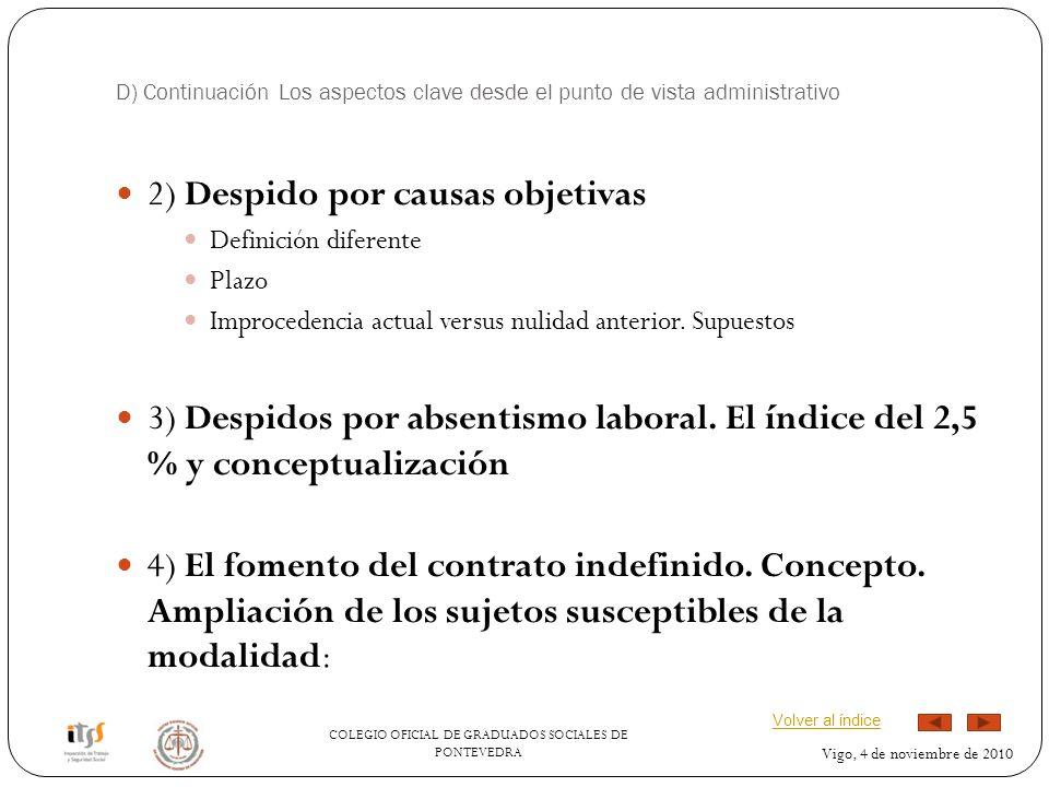 2) Despido por causas objetivas