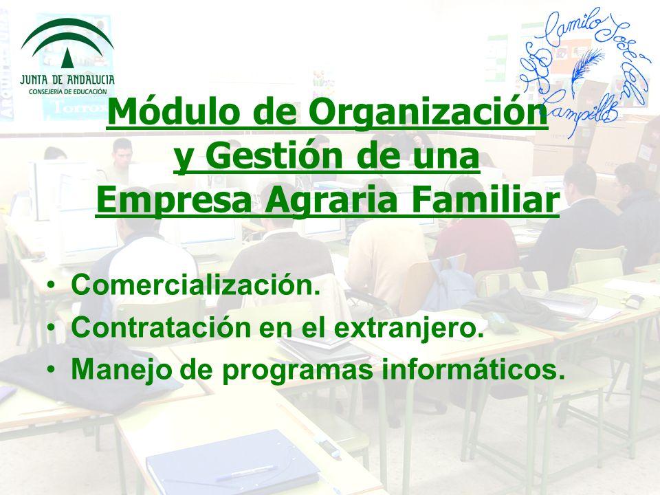 Módulo de Organización y Gestión de una Empresa Agraria Familiar