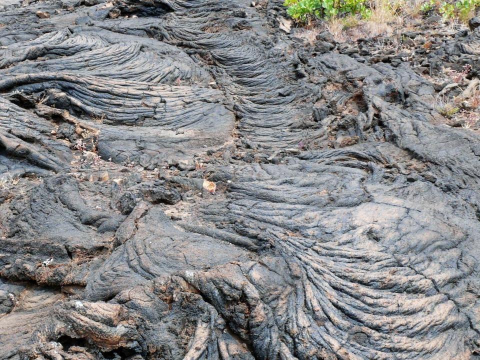 Un apunte negativo : un inmenso invernadero de plátanos en Tacorón , en un entorno de lavas volcánicas único.