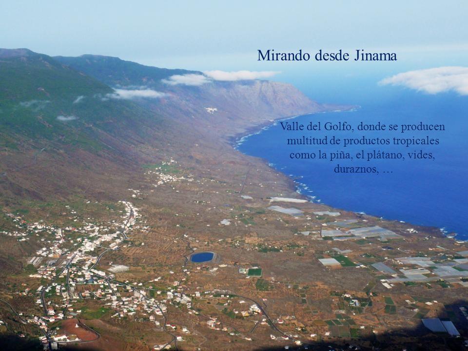 Mirando desde Jinama Valle del Golfo, donde se producen