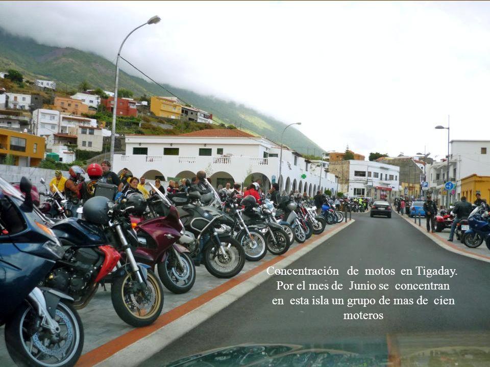 Concentración de motos en Tigaday. Por el mes de Junio se concentran