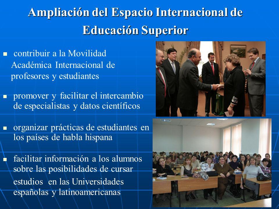 Ampliación del Espacio Internacional de Educación Superior