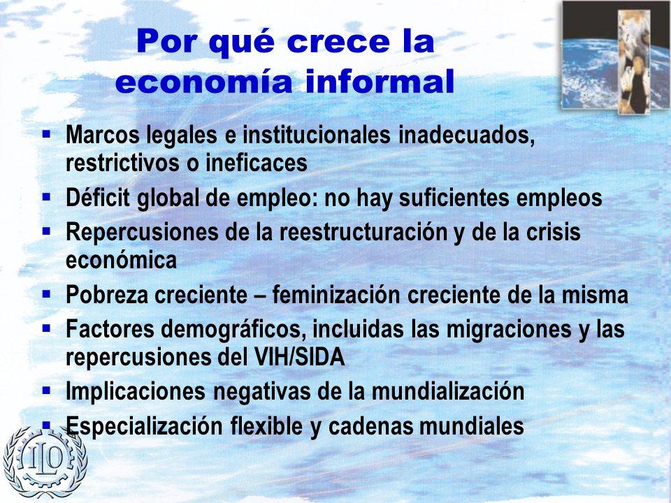 Por qué crece la economía informal