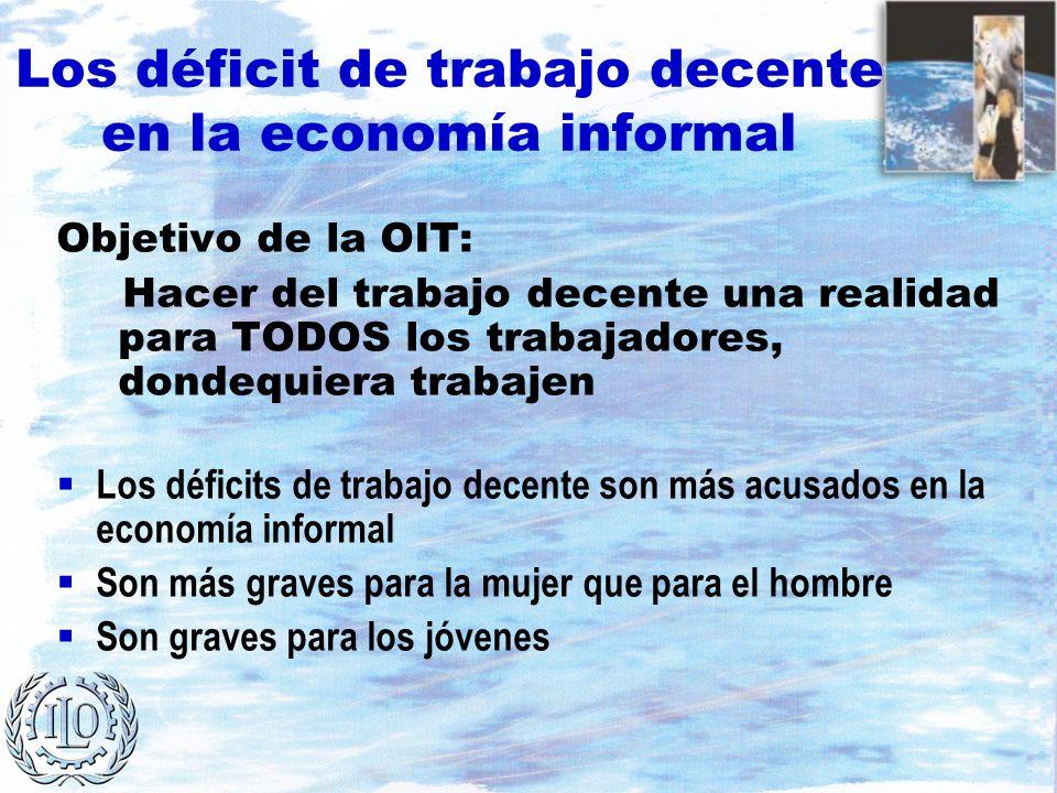 Los déficit de trabajo decente en la economía informal