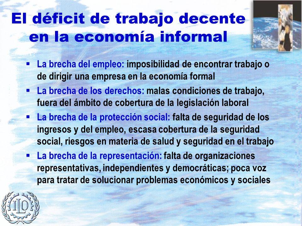 El déficit de trabajo decente en la economía informal