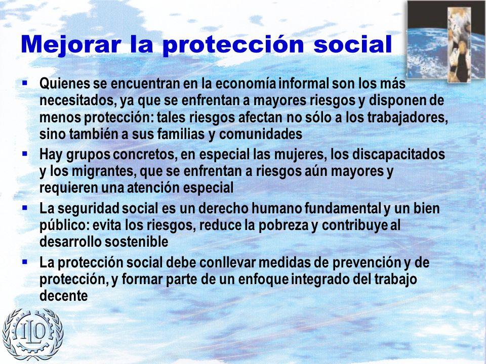 Mejorar la protección social