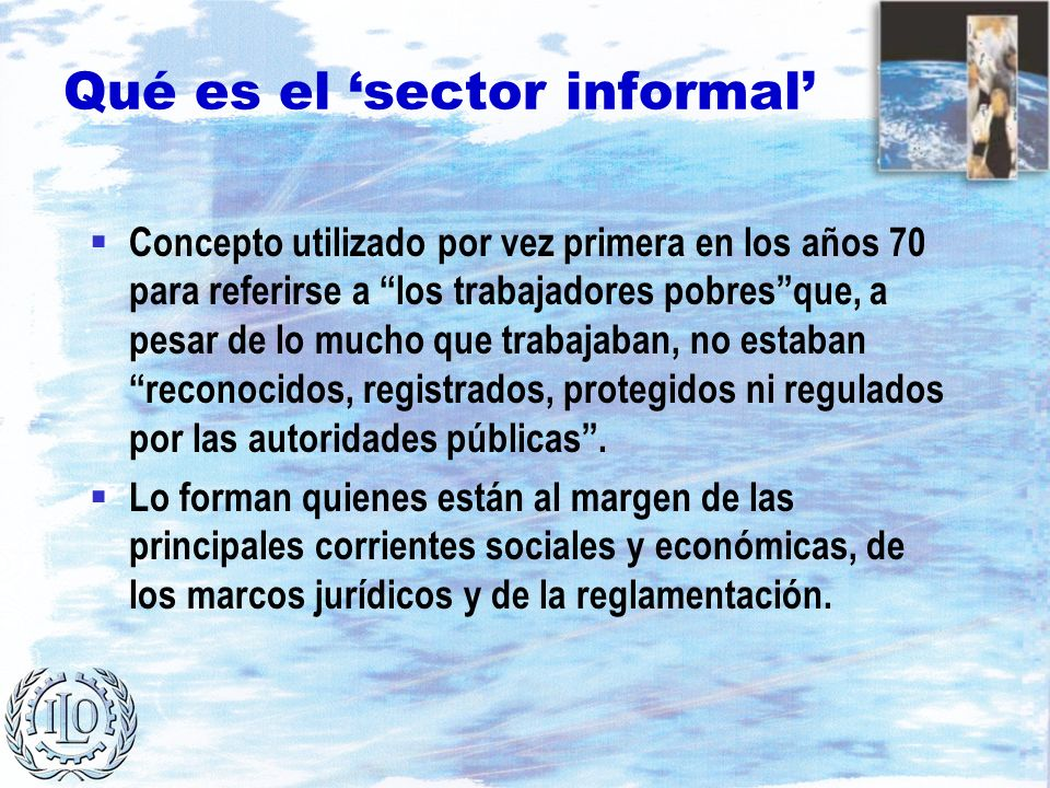 Qué es el 'sector informal'