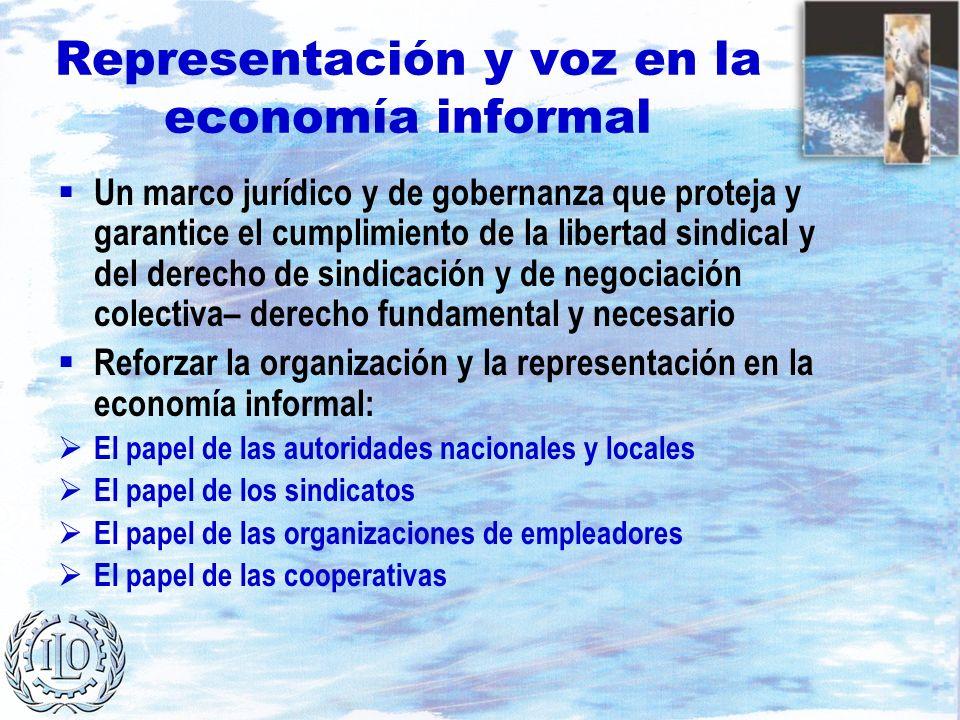 Representación y voz en la economía informal