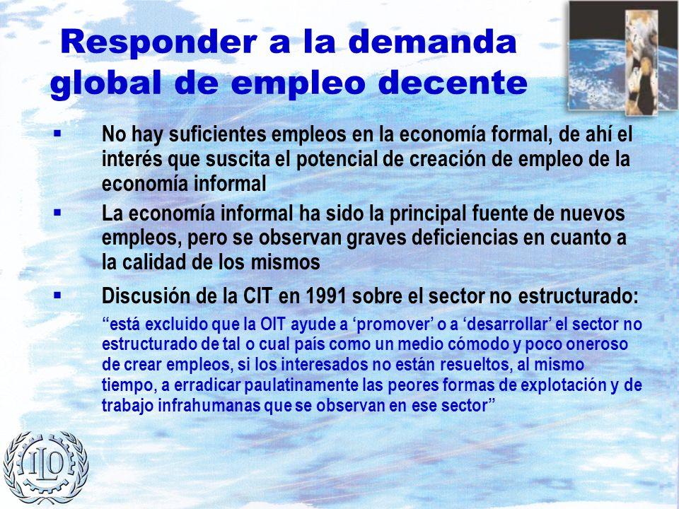 Responder a la demanda global de empleo decente