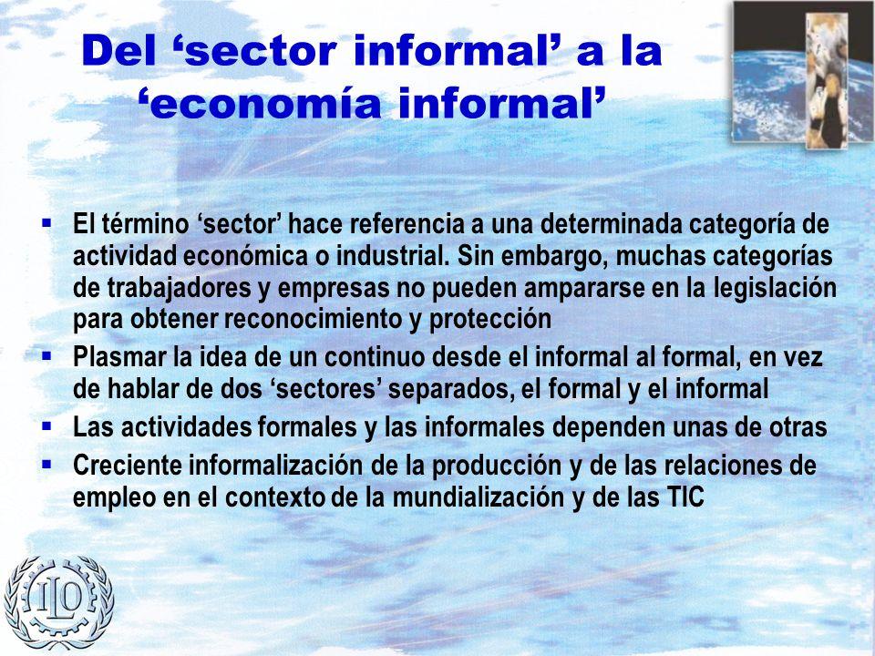 Del 'sector informal' a la 'economía informal'