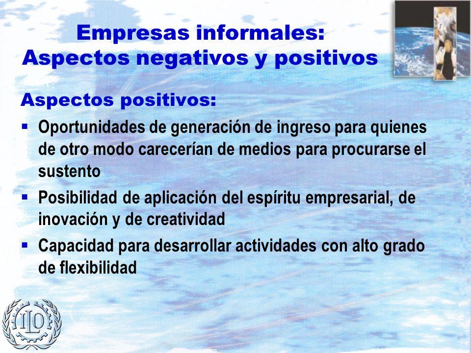 Empresas informales: Aspectos negativos y positivos