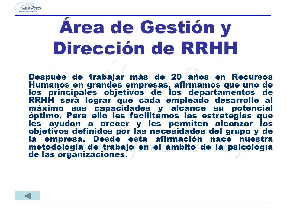Área de Gestión y Dirección de RRHH