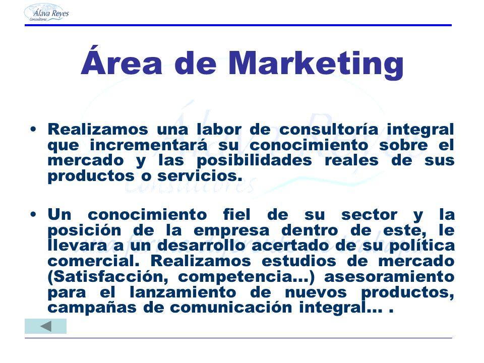 Área de Marketing