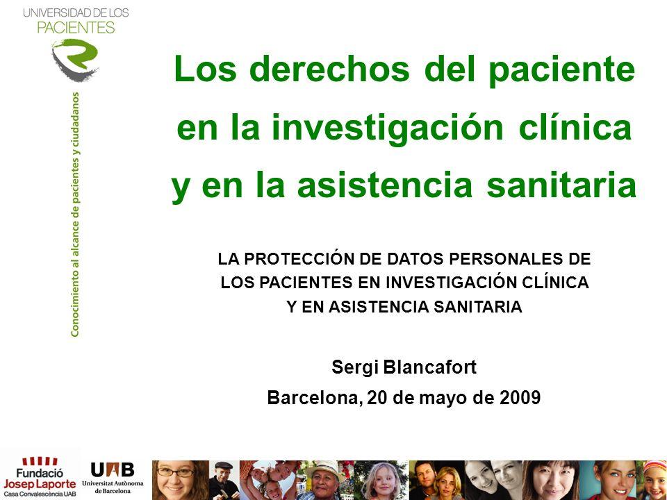 Los derechos del paciente en la investigación clínica y en la asistencia sanitaria