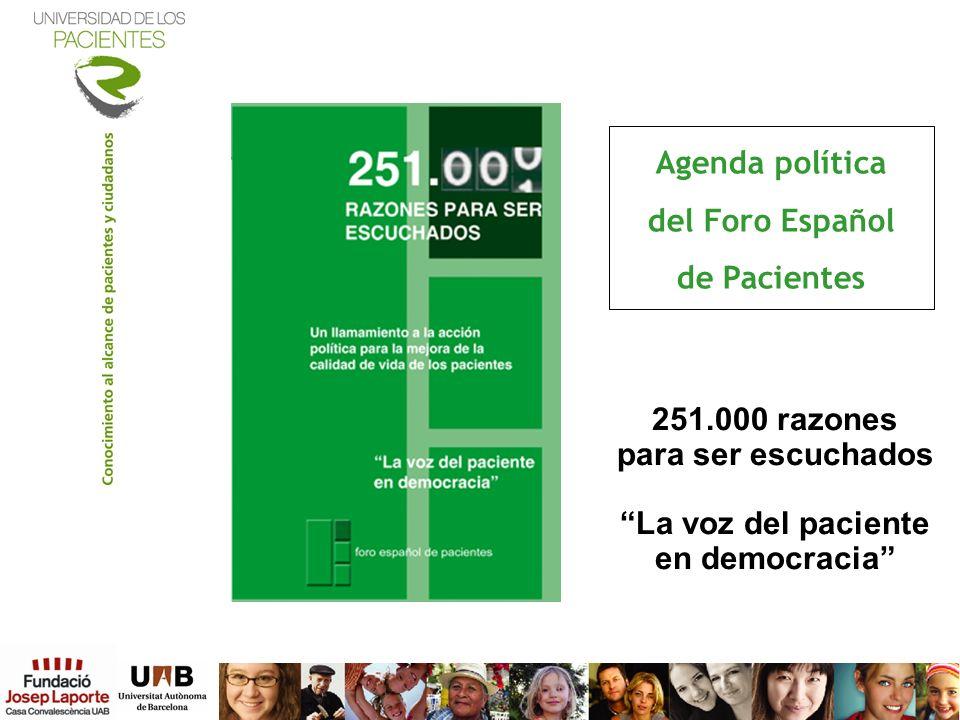 Agenda política del Foro Español de Pacientes