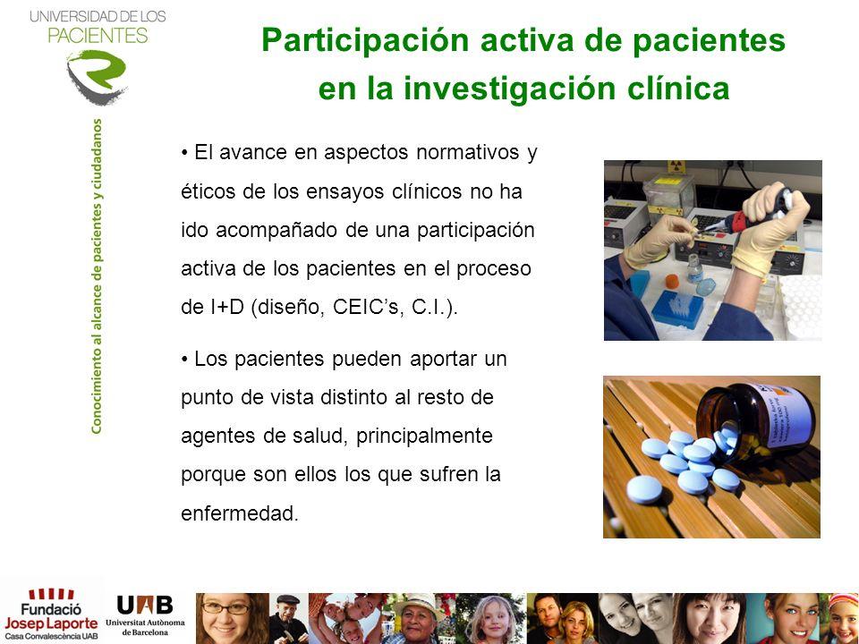 Participación activa de pacientes en la investigación clínica