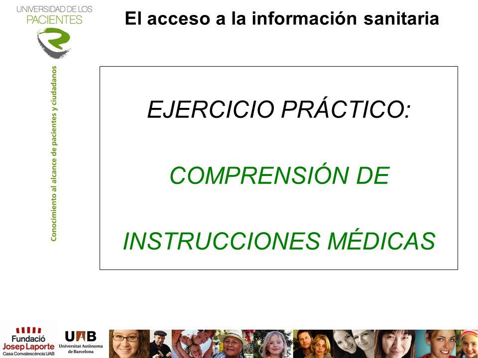 El acceso a la información sanitaria
