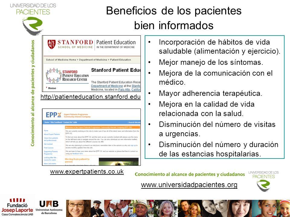 Beneficios de los pacientes bien informados