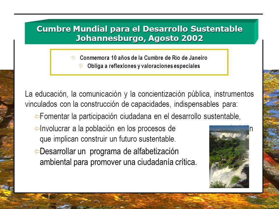 Cumbre Mundial para el Desarrollo Sustentable Johannesburgo, Agosto 2002