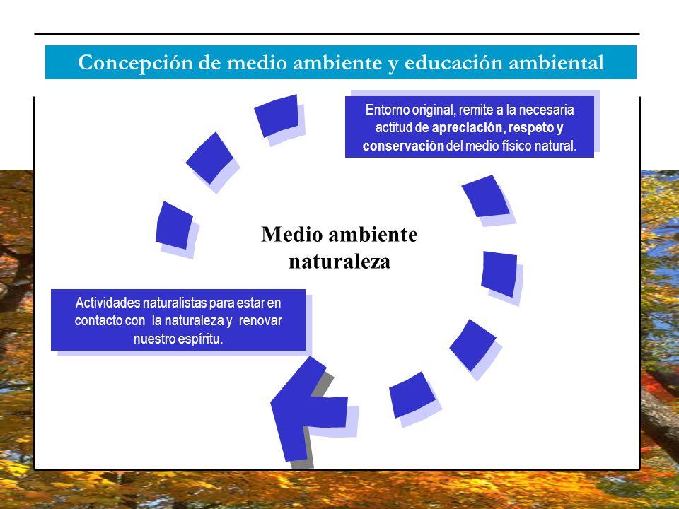 Concepción de medio ambiente y educación ambiental