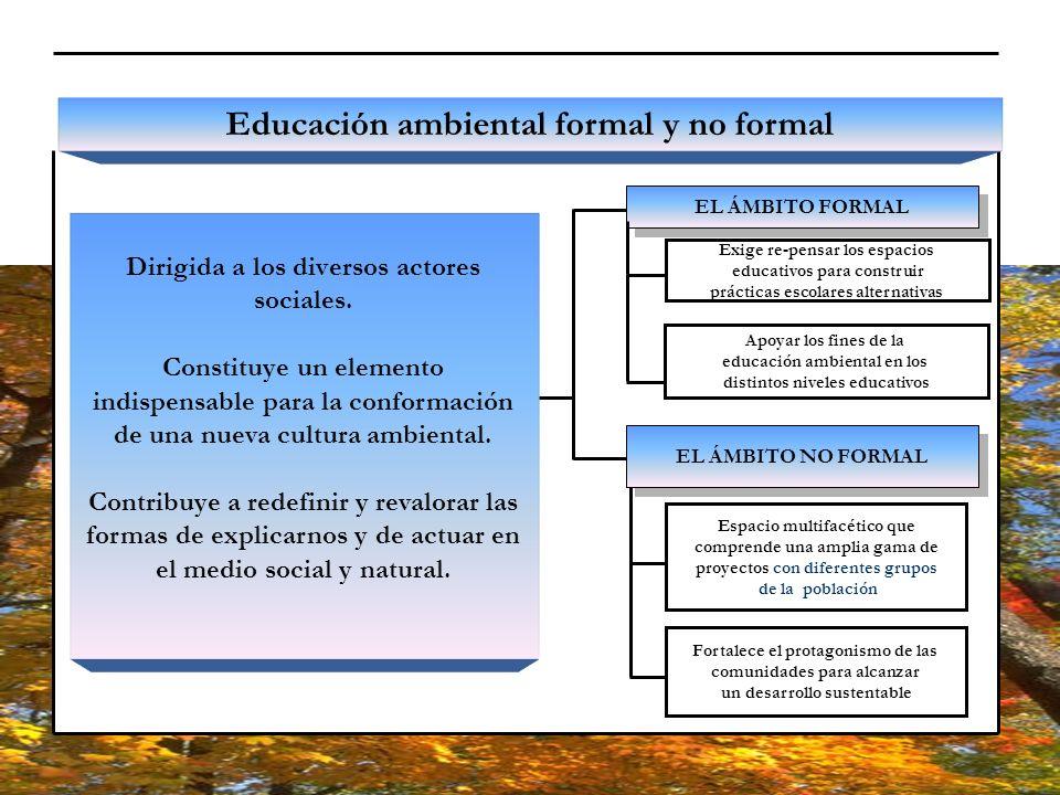 Educación ambiental formal y no formal