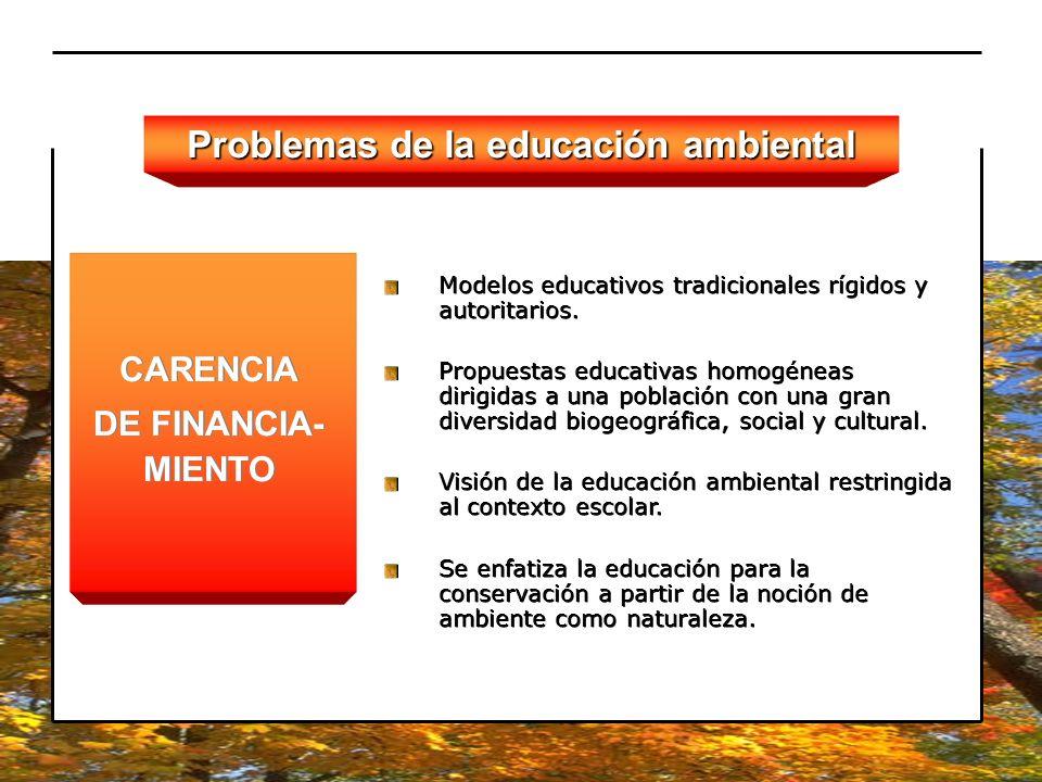 Problemas de la educación ambiental