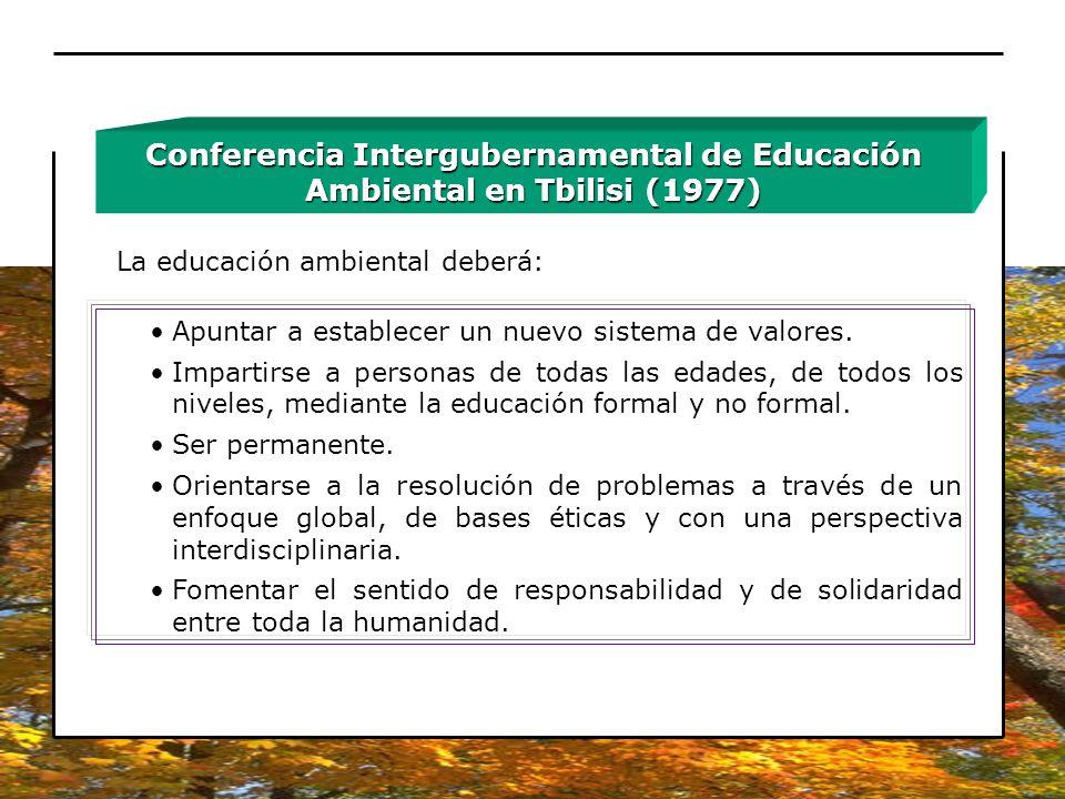 Conferencia Intergubernamental de Educación Ambiental en Tbilisi (1977)