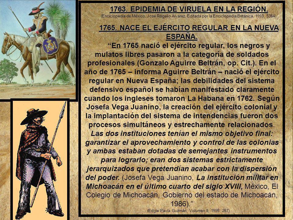 1765. NACE EL EJÉRCITO REGULAR EN LA NUEVA ESPAÑA.