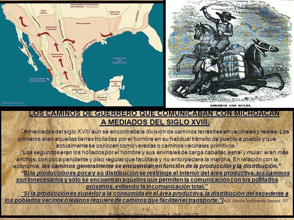 LOS CAMINOS DE GUERRERO QUE COMUNICABAN CON MICHOACÁN
