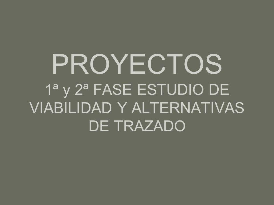 PROYECTOS 1ª y 2ª FASE ESTUDIO DE VIABILIDAD Y ALTERNATIVAS DE TRAZADO