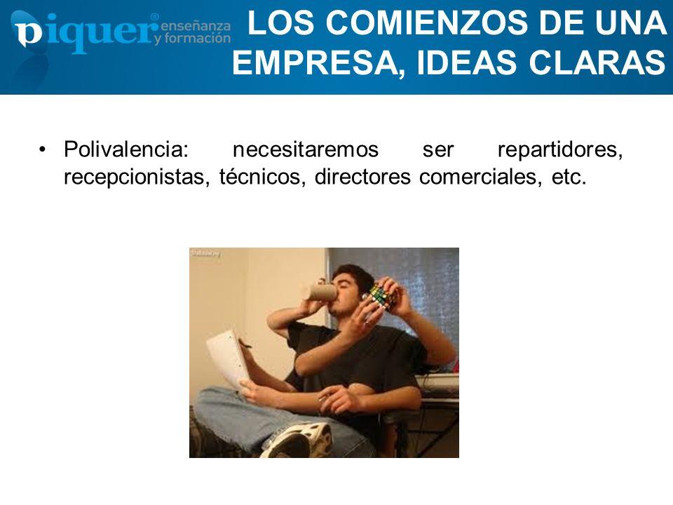 LOS COMIENZOS DE UNA EMPRESA, IDEAS CLARAS