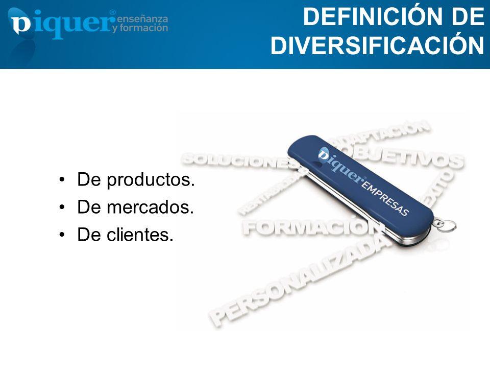 DEFINICIÓN DE DIVERSIFICACIÓN