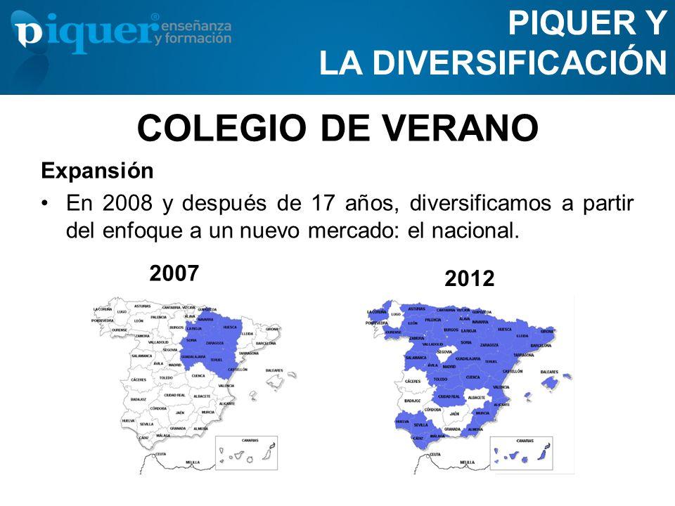 COLEGIO DE VERANO PIQUER Y LA DIVERSIFICACIÓN Expansión