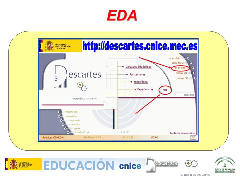 EDA Todo ello lo tienen en la web de Descartes y en el DVD del proyecto.