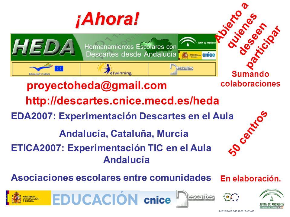 ¡Ahora! Abierto a quienes deseen participar proyectoheda@gmail.com