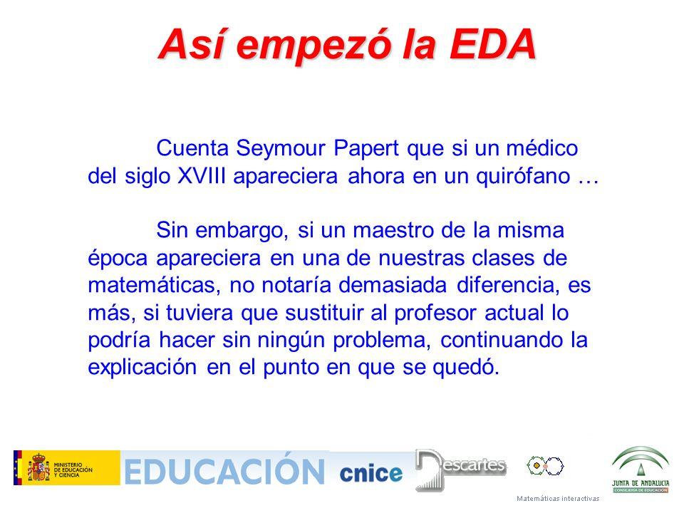Así empezó la EDA Cuenta Seymour Papert que si un médico del siglo XVIII apareciera ahora en un quirófano …
