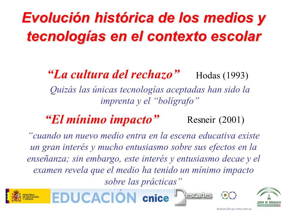 Evolución histórica de los medios y tecnologías en el contexto escolar