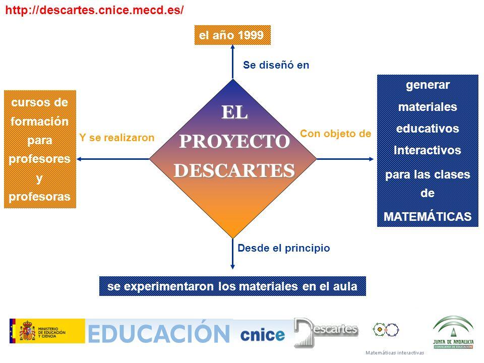 EL PROYECTO DESCARTES http://descartes.cnice.mecd.es/ el año 1999