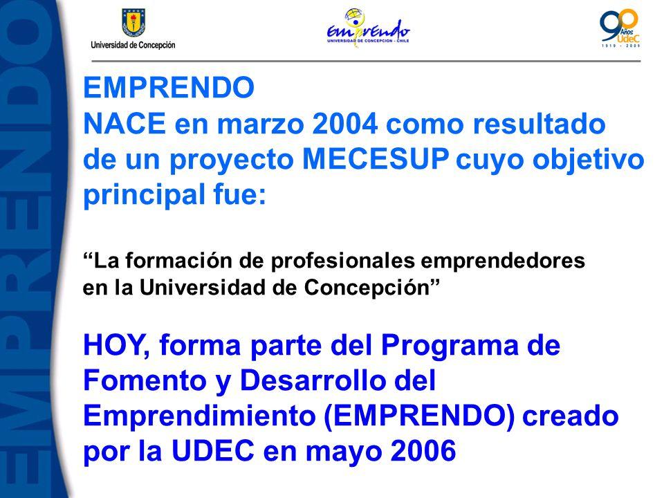 NACE en marzo 2004 como resultado de un proyecto MECESUP cuyo objetivo