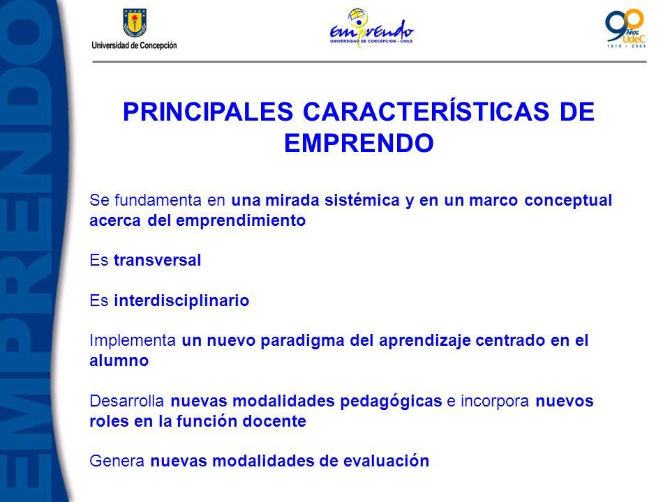PRINCIPALES CARACTERÍSTICAS DE EMPRENDO