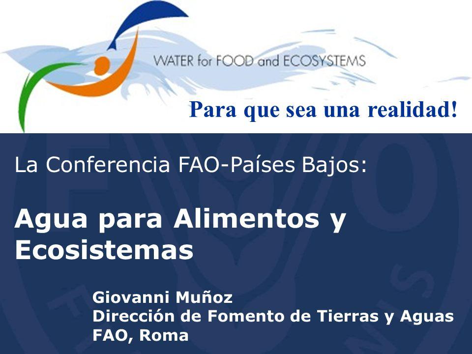 Agua para Alimentos y Ecosistemas