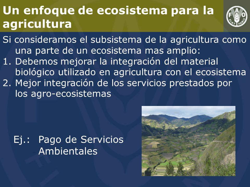 Un enfoque de ecosistema para la agricultura