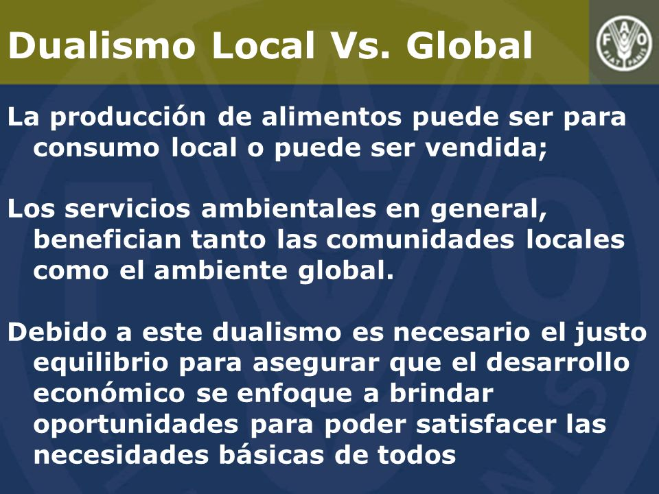 Dualismo Local Vs. Global